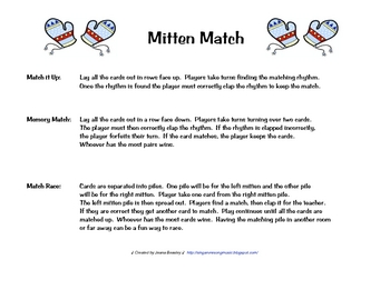 Rhythm Mitten Match Level One
