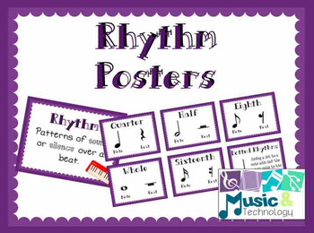 Elements of Music- Rhythm Posters