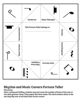 Rhythm & Musical Math Fortune Tellers - What will be your music career?!