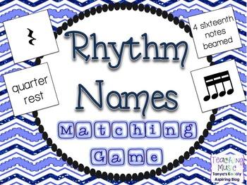 Rhythm Note Names Matching Game