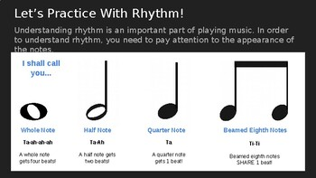 Rhythm & Note Reading Powerpoint