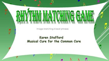 Rhythm Pattern Power Point Matching Game