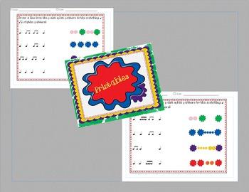 "Rhythm Pattern Practice for Music ""Paint Splat"""