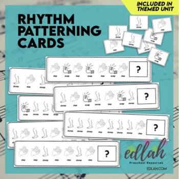 Rhythm Patterning Cards - Black & White Version