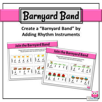 Music Rhythm Activity, Patterns to Read & Play, Quarter Note/Rest-Animal Rhythms