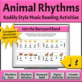 Kodaly Music Reading Activities | Animal Rhythms