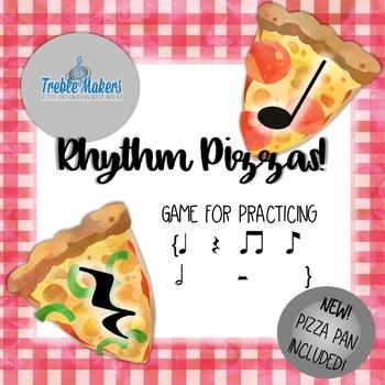 Rhythm Pizzas {quarter, half and eighth notes/rests} #artspatriots