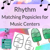 Rhythm Popsicle Matching Game for End of Year or Summer Mu