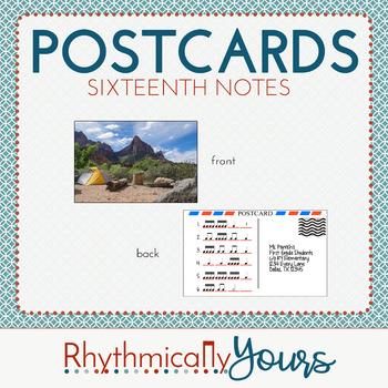 Rhythm Postcards - 16th notes