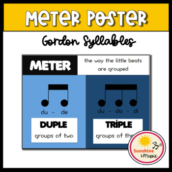 Rhythm Poster - Duple and Triple Meter: Gordon Syllables