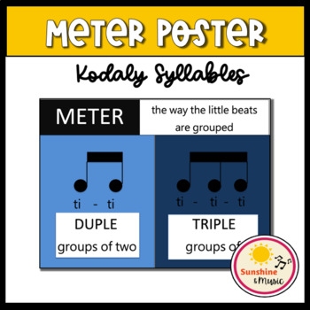 Rhythm Poster - Duple and Triple Meter: Kodaly/Orff Syllables