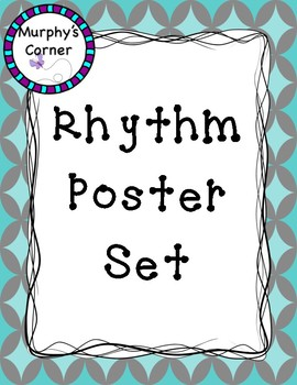 Rhythm Poster Set- Shades of Blue Design