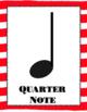 Rhythm Poster Set- Watercolor Striped Design