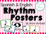 Spanish & English Rhythm Posters, UK Terms Included
