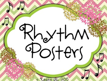 Rhythm Posters - Pink and Green Themed