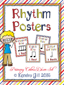 Rhythm Posters - Primary Color Themed