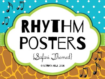 Rhythm Posters - Safari Themed