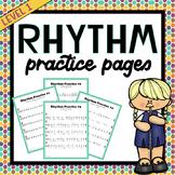 Rhythm Practice Worksheets #1