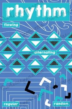 Rhythm, Principles of Design Printable Poster, Art Classroom Decor