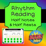 Rhythm Reading Boom Cards - Half Notes & Half Rests