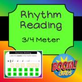 Rhythm Reading Boom Cards - 3/4 Meter