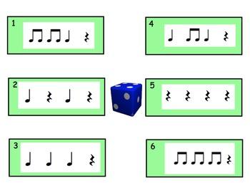 Rhythm Reading Dice Game