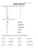 Rhythm Rehearsal - matching and math