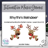 Interactive Rhythm Pattern Game: Rhythm Reindeer 1 {Kodaly Edition}