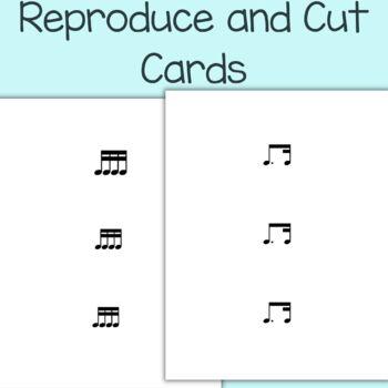 Rhythm Relay Rhythm Phrase Game for Music Class