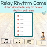 Rhythm Relay Rhythm Phrase Game for Music Class