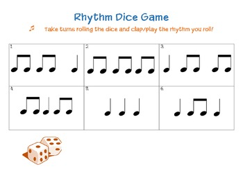 Rhythm Roll - A game for practicing rhythms in small groups.