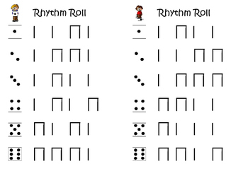 Rhythm Roll, a small group activity to practise ta and ti-ti