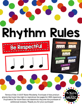Rhythm Rules for the Music Room