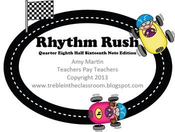 Rhythm Rush Relay Rhythm ID Game: Sixteenth, Half, Quarter, Eighth Edition
