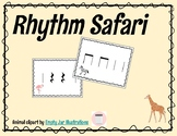 Rhythm Safari Activity! (Quarter Note, Eighth Notes, Quarter Rest)