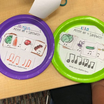 Rhythm Sandwiches - a tasty way to practice composing in meters of 2, 3, and 4!