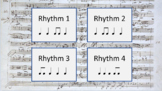Rhythm Set 2 - ♩ Z ♫ - (Ear Training and Aural Skills)
