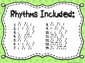 Rhythm & Shake {Rhythm Cards with Brain Breaks}:  Syncopa (Ti Ta Ti)