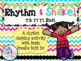 Rhythm Cards with Brain Breaks:  Ta, Ti Ti, Rest