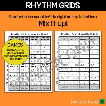Rhythm Slides & Grids - Level 4 Rhythm Activities