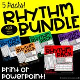Rhythm Cards, Slides & Grids- Rhythm Activities BUNDLE (Mu
