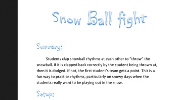 Rhythm Snowball Fight