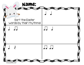 Rhythm Sort - Easter Bunny Edition for Rhythm Centers and Composition