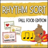 Rhythm Centers and Composition Rhythm Sort - Fall Food Festival Edition