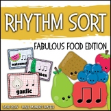 Rhythm Centers and Composition Rhythm Sort - Food Edition