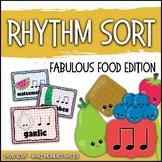 Rhythm Centers and Composition Rhythm Sort - Food Edition