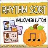 Rhythm Centers and Composition Rhythm Sort - Halloween Edition