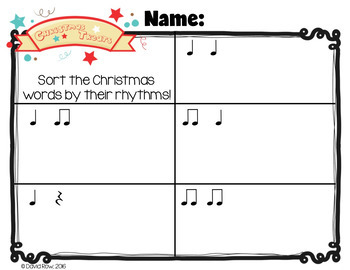 Rhythm Sort - Merry Christmas Edition for Rhythm Centers and Composition