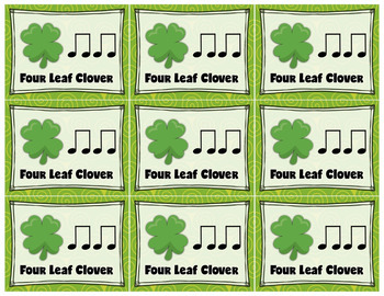 Rhythm Sort - St. Patrick's Day Edition for Rhythm Centers and Composition
