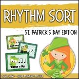 Rhythm Centers and Composition Rhythm Sort - St. Patrick's Day Edition